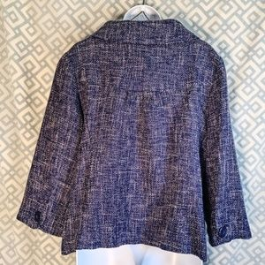 Dialogue Jackets & Coats - Dialogue Blue Tweed Two Button Women XL Jacket